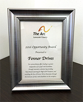 Fenner Drives Opportunity Award