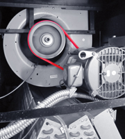 PowerTwist Belting on a Data Center Centrifugal Fan