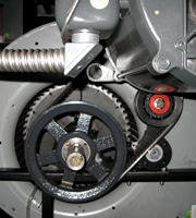 T-max Tensioner on a Data Center Centrifugal Fan