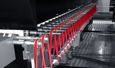 PowerTwist Belting on a Glass Oven Conveyor