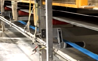 Eagle Taper Edge Band Return Rollers on Gypsum Wallboard Forming Line