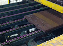 Tango High Performance Link Belting on a Tile Conveyor
