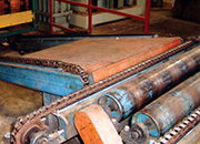 Trackstar Chain Guides on a wood processing machine