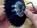 Easy Installation of Chain Sprockets using B-LOC Compression Hubs